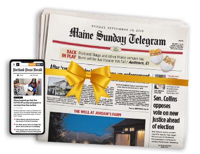 Maine Sunday Telegram and phone